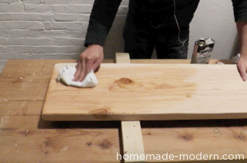 HomeMade Modern DIY EP28 Wood and Wool Bench Step 4