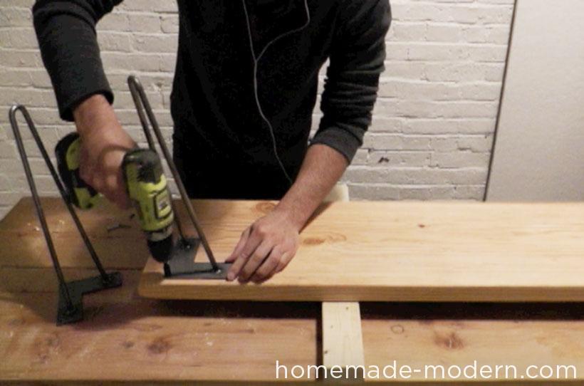 HomeMade Modern DIY EP28 Wood and Wool Bench Step 5