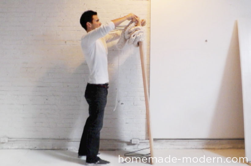 HomeMade Modern DIY EP28 Wood and Wool Bench Step 6