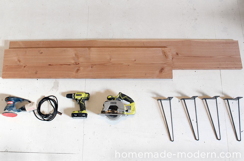 HomeMade Modern DIY Wood and Wool Bench Supplies