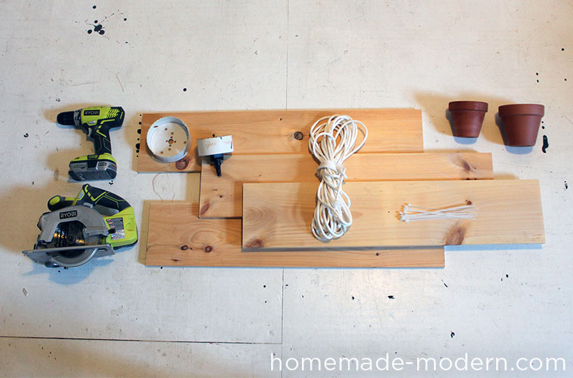 HomeMade Modern DIY Hanging Garden Supplies
