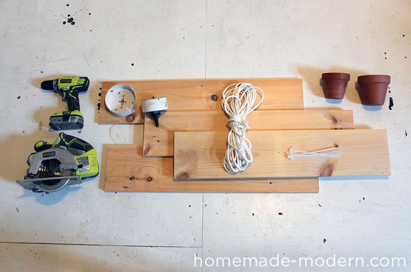 HomeMade Modern DIY Hanging Garden Supplies