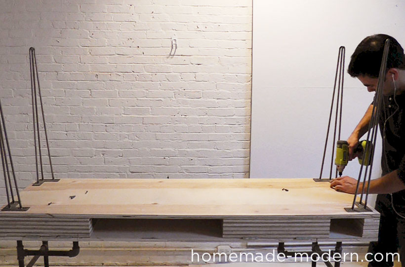 HomeMade Modern DIY EP30 The Flip Desk Step 12