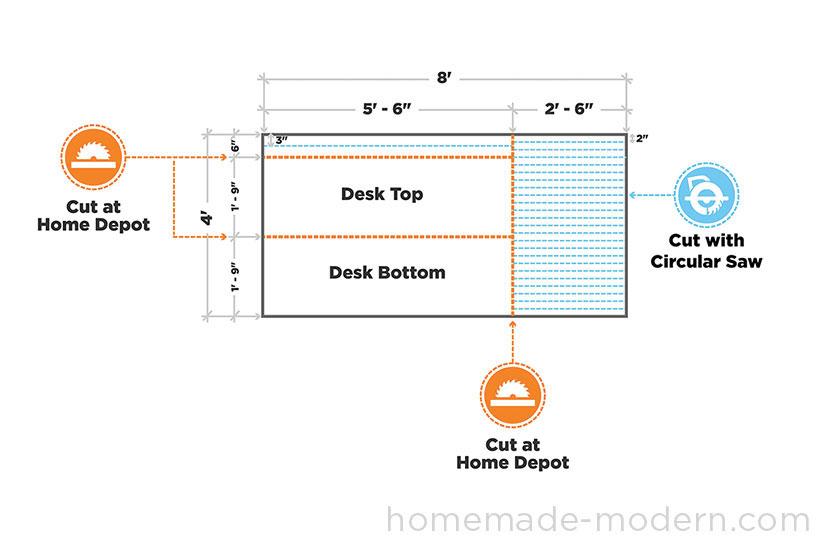 HomeMade Modern DIY EP30 The Flip Desk Step 1