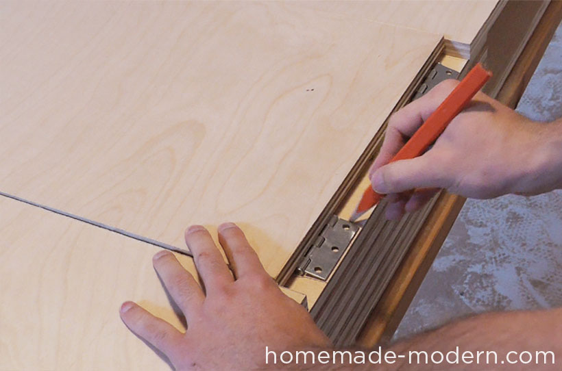 HomeMade Modern DIY EP30 The Flip Desk Step 7