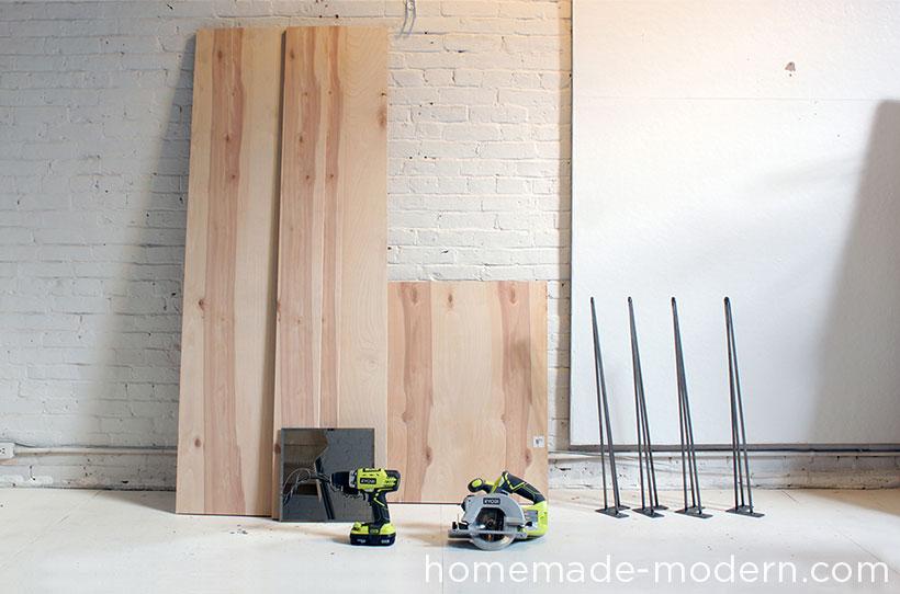 HomeMade Modern DIY The Flip Desk Supplies