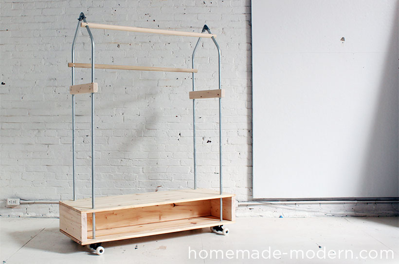HomeMade Modern DIY Garment Rack Options