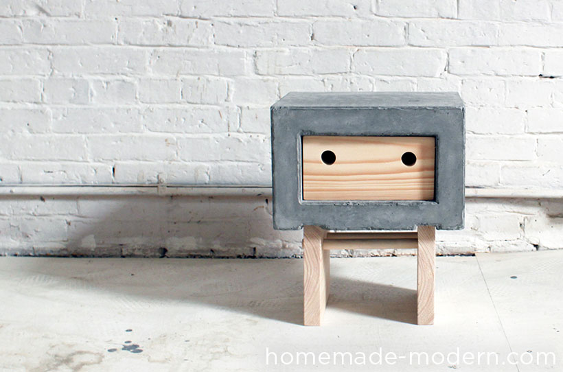 homemade modern ep32 concrete nightstand