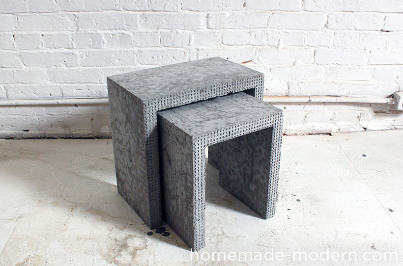 HHomeMade Modern DIY EP34 Concrete Nesting Tables Options