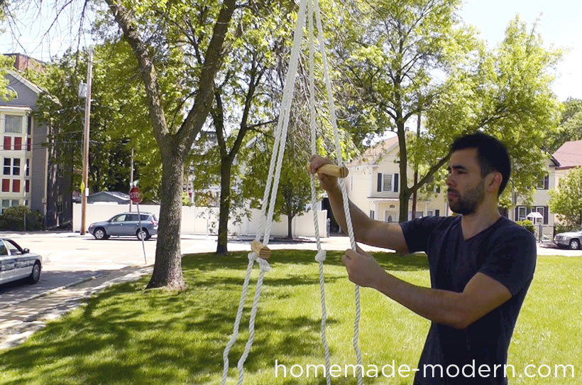 HomeMade Modern DIY EP35 The Skate Swing Step 7