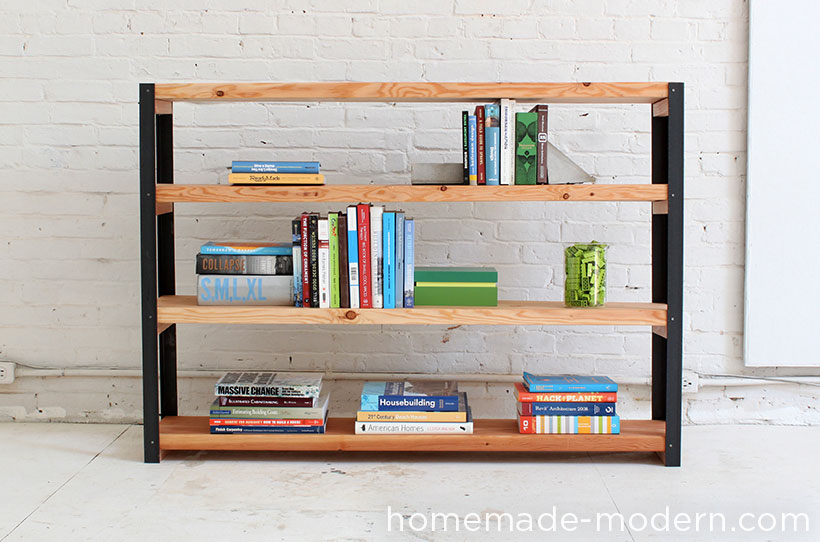 modern furniture shelves. HomeMade Modern DIY EP36 Ironbound Bookcase Options Furniture Shelves