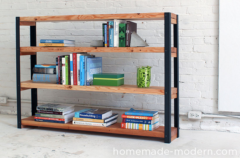 HomeMade Modern EP Ironbound Bookcase - Diy bookshelves