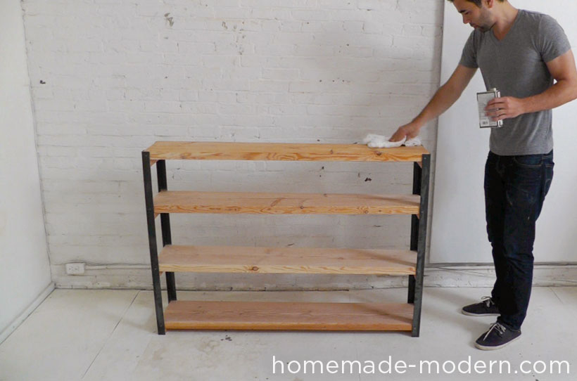 HomeMade Modern DIY EP36 Ironbound Bookcase Step 10