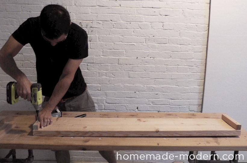 HomeMade Modern DIY EP36 Ironbound Bookcase Step 6