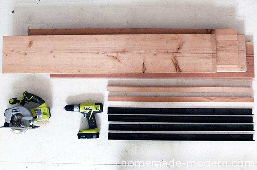 HomeMade Modern DIY EP36 Ironbound Bookcase Supplies