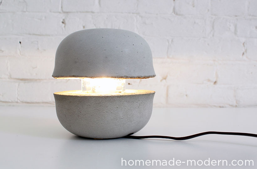 HHomeMade Modern DIY EP37 Concrete Bowl Lamp Options
