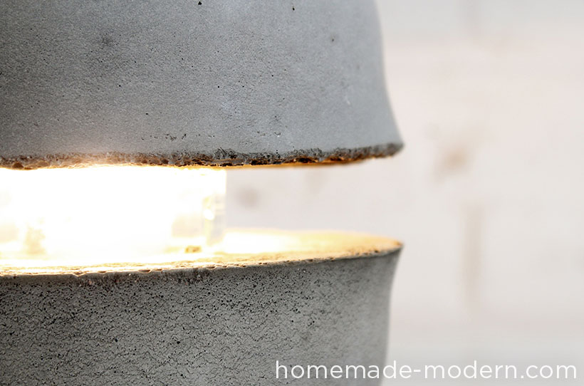 HomeMade Modern DIY EP37 Concrete Bowl Lamp Options