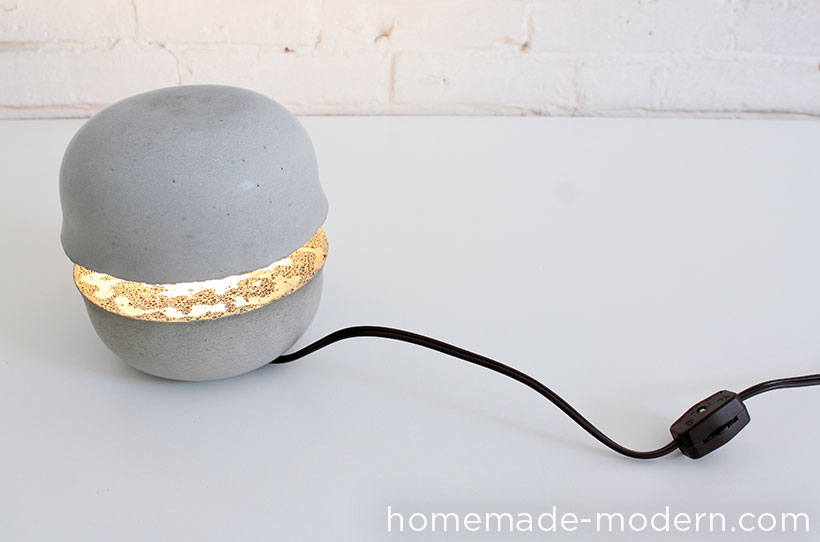HomeMade Modern EP36 Concrete Bowl Lamp