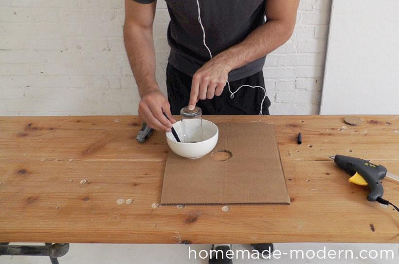 HomeMade Modern DIY EP37 Concrete Bowl Lamp Step 1