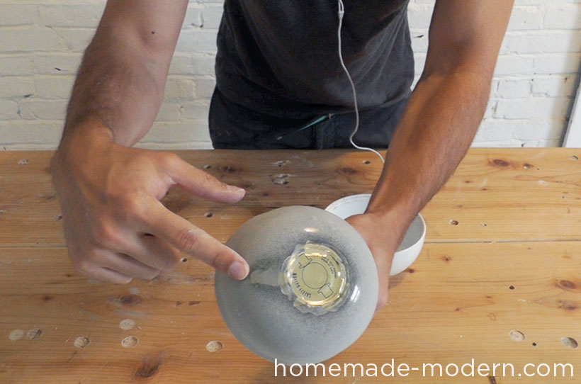 HomeMade Modern DIY EP37 Concrete Bowl Lamp Step 10