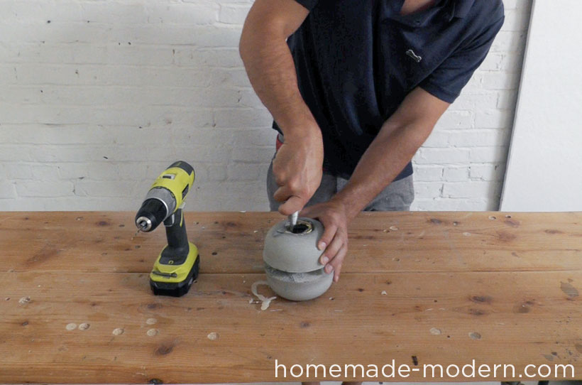 HomeMade Modern DIY EP37 Concrete Bowl Lamp Step 11