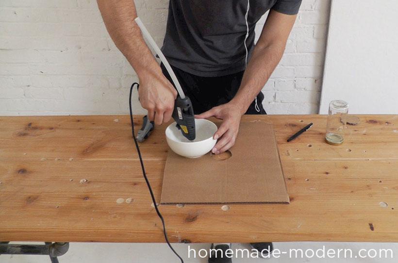 HomeMade Modern DIY EP37 Concrete Bowl Lamp Step 2