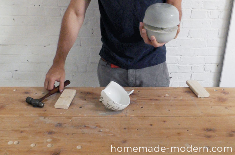 HomeMade Modern DIY EP37 Concrete Bowl Lamp Step 9