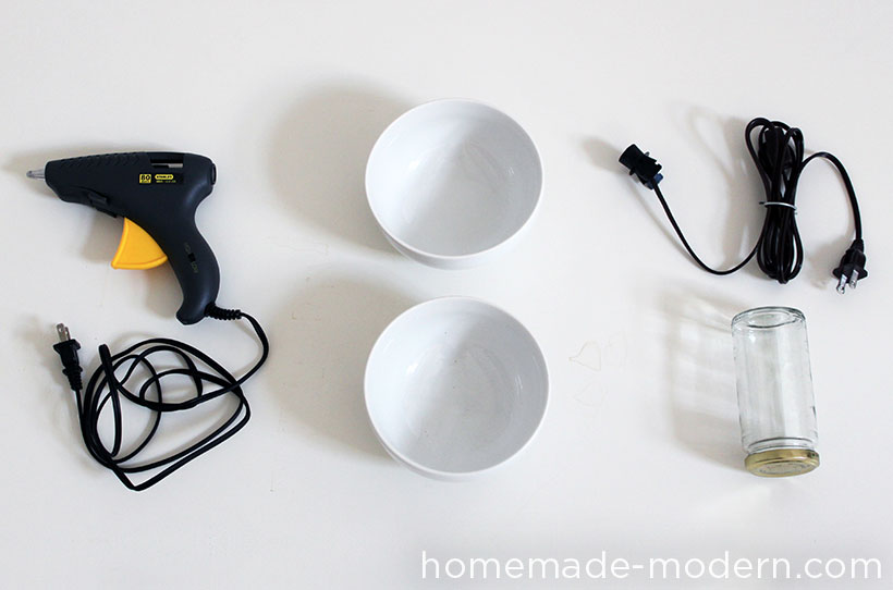 HomeMade Modern DIY Concrete Bowl Lamp Supplies