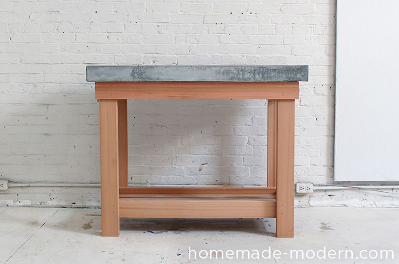 HomeMade Modern EP38 Wood + Concrete Kitchen Island
