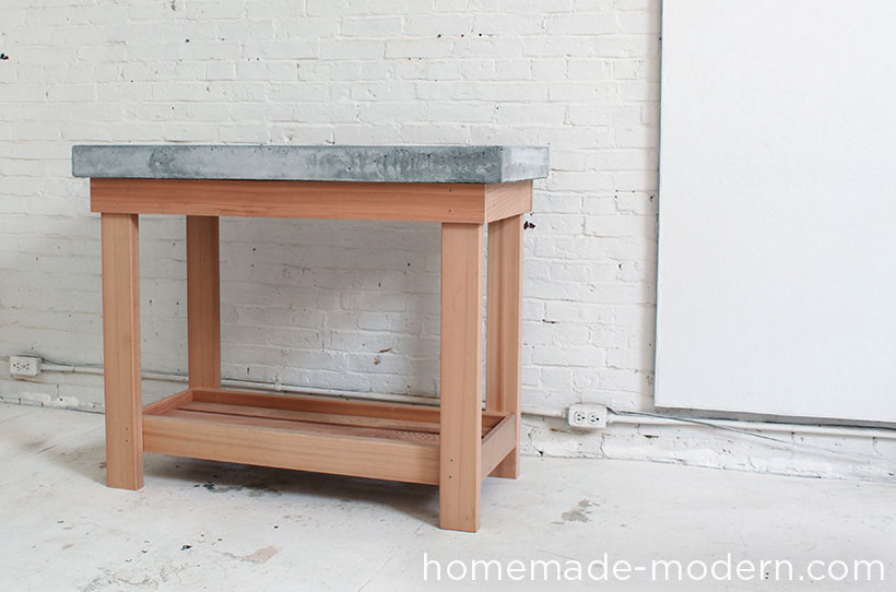 Kitchen Island Options homemade modern ep38 wood + concrete kitchen island