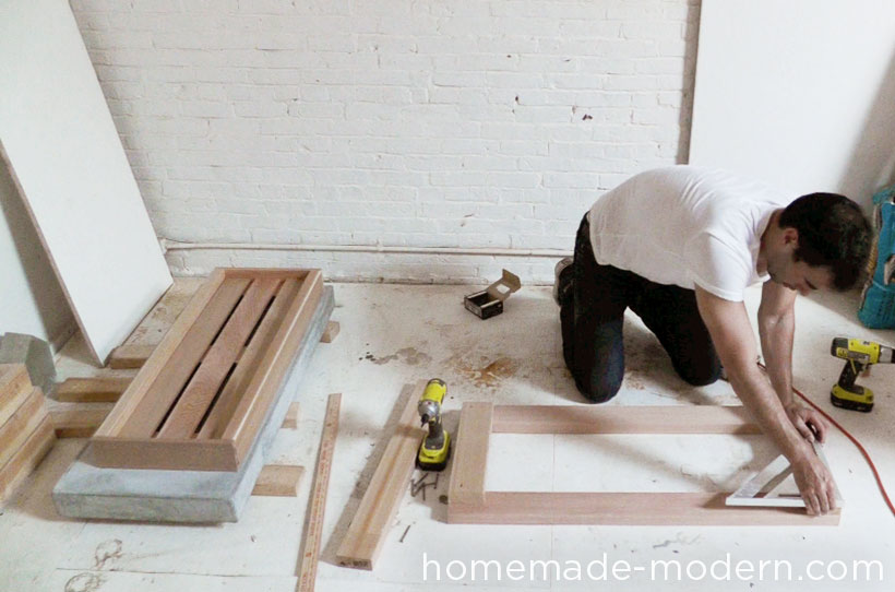 HomeMade Modern DIY EP38 Wood + Concrete Kitchen Island Step 12