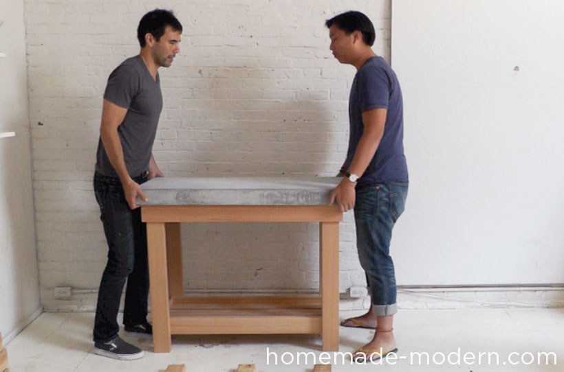 HomeMade Modern DIY EP38 Wood + Concrete Kitchen Island Step 17