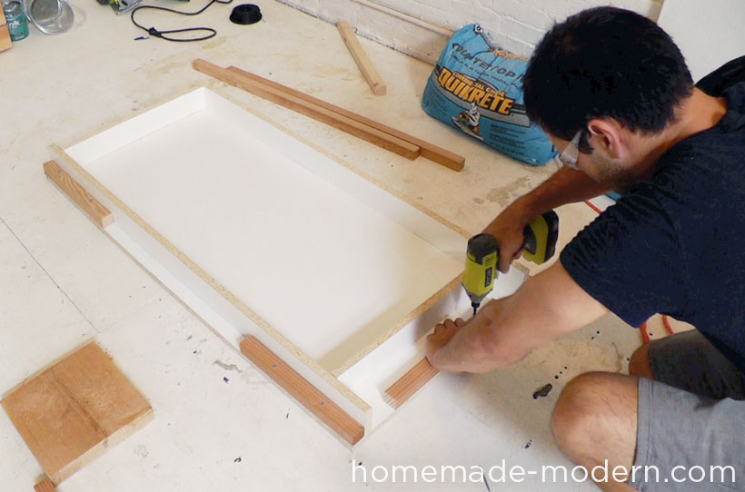 HomeMade Modern DIY EP38 Wood + Concrete Kitchen Island Step 2