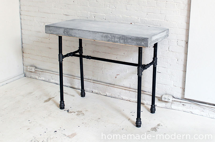homemade modern ep40 concrete iron side table