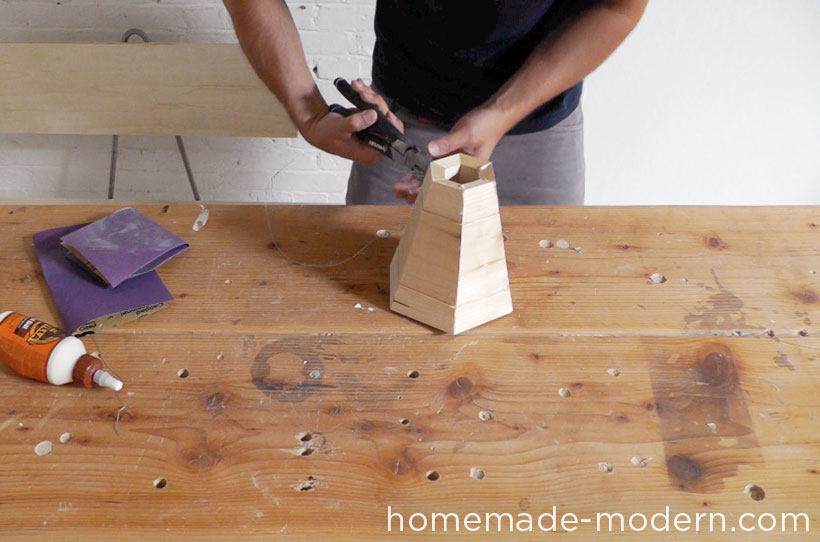 HomeMade Modern DIY EP42 Wood Pendant Lamp Step 4