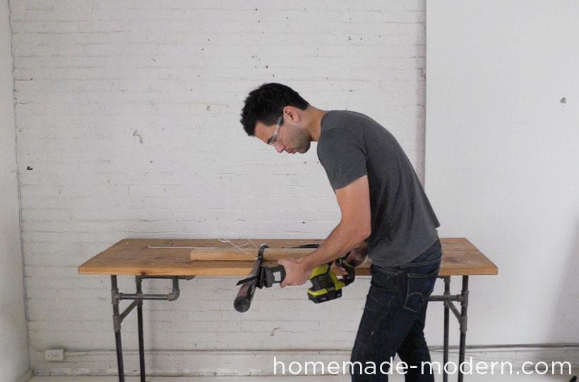 HomeMade Modern DIY EP43 Baseball Bat Lamp Step 1