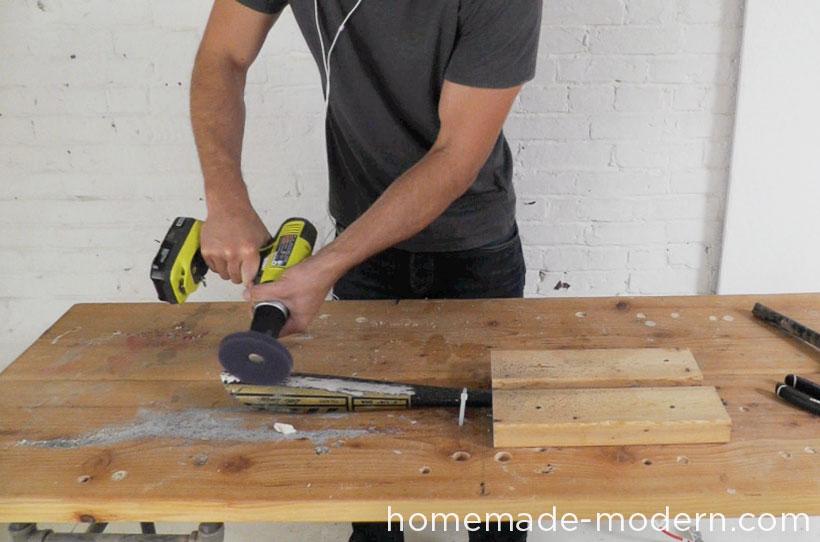 HomeMade Modern DIY EP43 Baseball Bat Lamp Step 2