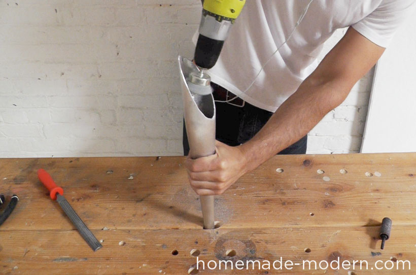 HomeMade Modern DIY EP43 Baseball Bat Lamp Step 6