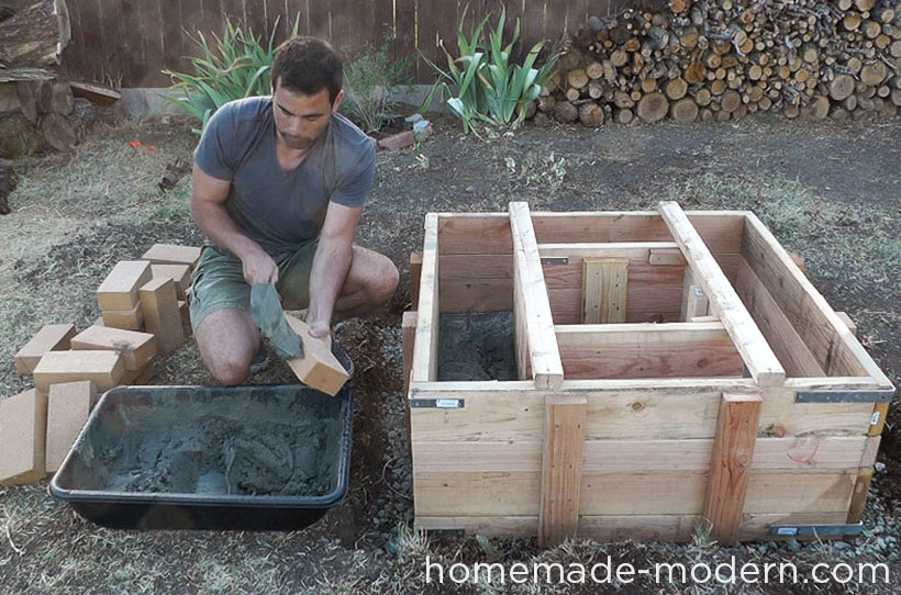 HomeMade Modern DIY EP41 Concrete Fire Pit Step 11