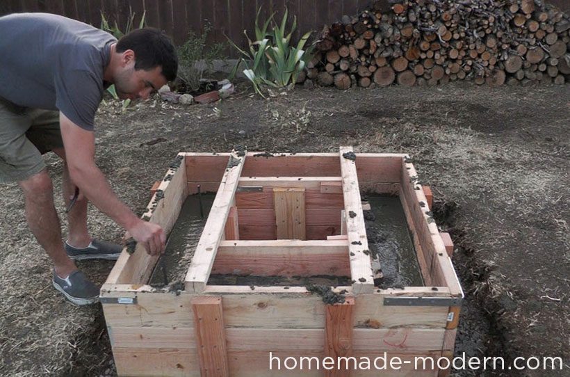 HomeMade Modern DIY EP41 Concrete Fire Pit Step 12
