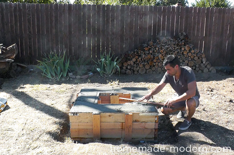 HomeMade Modern DIY EP41 Concrete Fire Pit Step 14