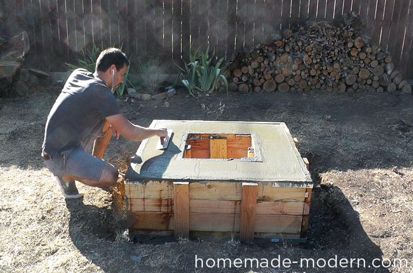 HomeMade Modern DIY EP41 Concrete Fire Pit Step 15