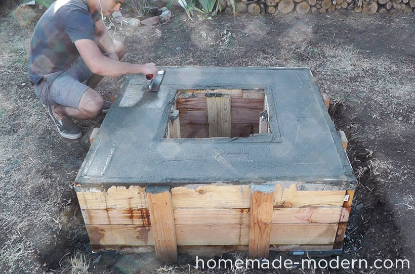 HomeMade Modern DIY EP41 Concrete Fire Pit Step 16