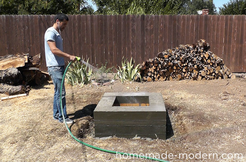 HomeMade Modern DIY EP41 Concrete Fire Pit Step 18