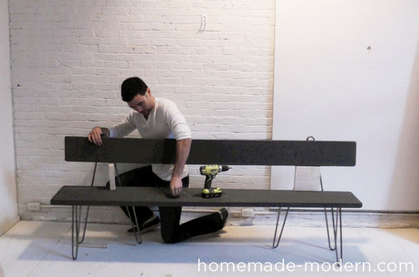 HomeMade Modern DIY EP28 Hairpin Bench Step 3