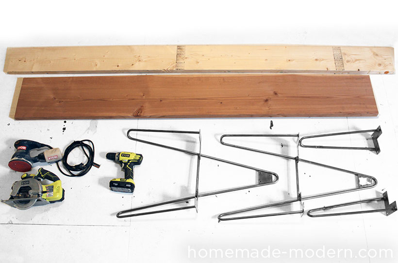 HomeMade Modern DIY Hairpin Bench Supplies