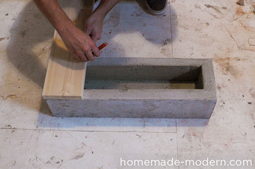 HomeMade Modern DIY EP41 Self Watering Concrete Planter Step 11