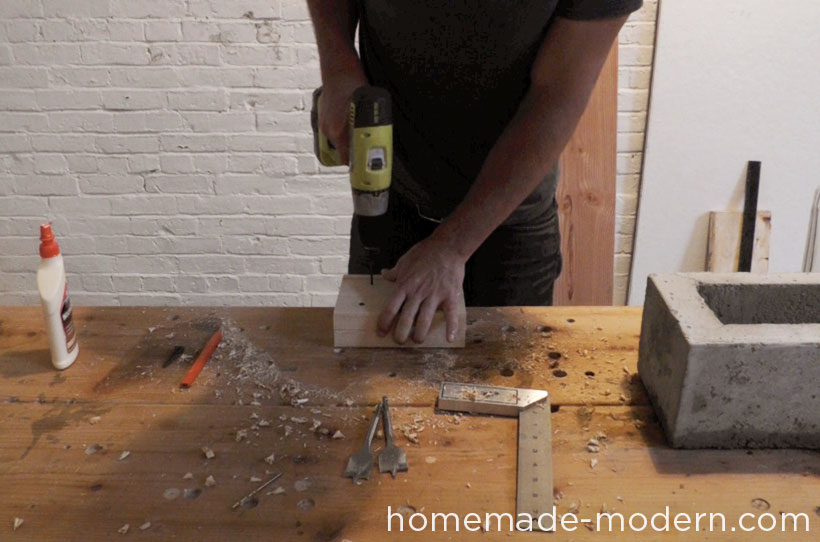 HomeMade Modern DIY EP41 Self Watering Concrete Planter Step 13