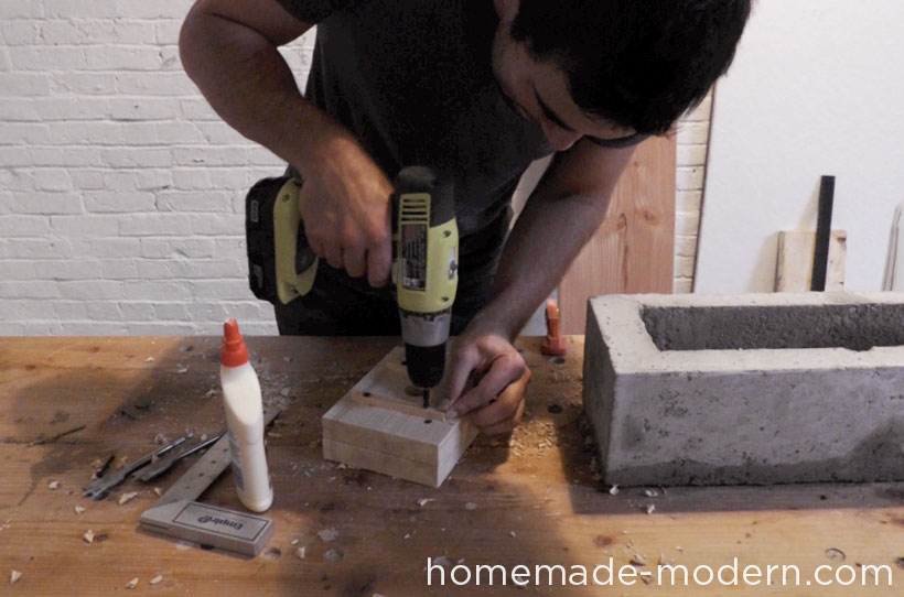 HomeMade Modern DIY EP41 Self Watering Concrete Planter Step 14