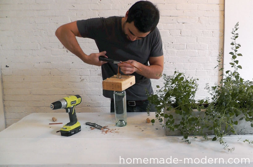 HomeMade Modern DIY EP41 Self Watering Concrete Planter Step 18